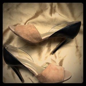 LEVITY two-tone peep-toe SHOES